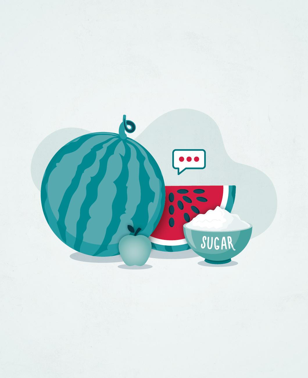 Fruta, frutose e açúcares afins…